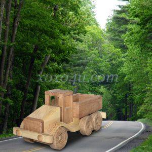 деревянная игрушка машинка грузовик