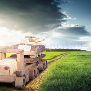 игрушка машина-тягач армейский с танком