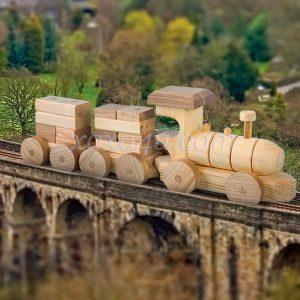 игрушка поезд-конструктор