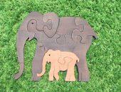 Пазлы Слон со слоненком