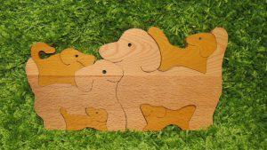 """Деревянные пазлы  """"Собачья семья"""""""