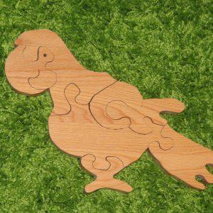 деревянные игрушки пазлы попугайчик