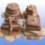Деревянная пирамидка Черепашки2