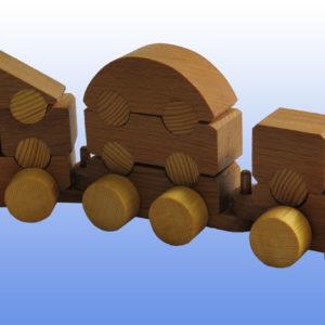 Игрушка паровозик разборный