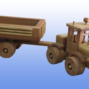 игрушка трактор с прицепом