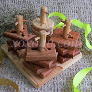 деревянная пирамидка логика