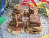 Деревянная пирамидка Черепашки