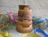 Деревянная пирамидка Башня