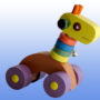 Игрушка каталка Жираф фиолетовые колеса 2
