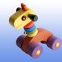 Игрушка каталка Жираф фиолетовые колеса 3