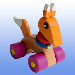 Игрушка каталка Лисичка