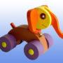 Игрушка каталка Слоненок фиолетовые колеса