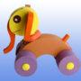 Игрушка каталка Слоненок фиолетовые колеса 3