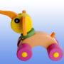 Игрушка каталка Слоник баклажановые колеса 3
