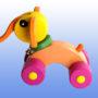 Игрушка каталка Слоник баклажановые колеса 4
