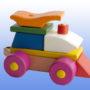 Игрушка поезд с рыжей крышей 3