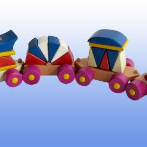 Поезд с синей крышей