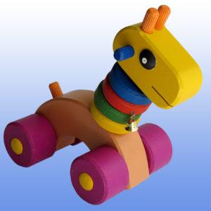 игрушка жирафик баклажановые колеса