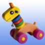 игрушка жирафик баклажановые колеса 4