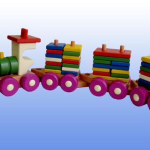 поезд конструктор 3 вагона
