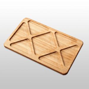 Прямоугольное блюдо для подачи — менажница «Геометрик» 400х250х20мм из бука