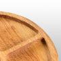 Тарелка для закусок с соусником 250х250х20мм...