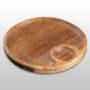 Тарелка с соусником 200х200х20мм из бука