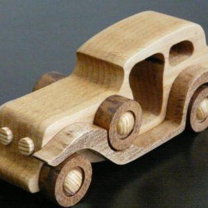 Деревянная машинка в стиле ретро №3